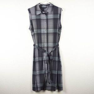 Brooks Brothers Womens L Stretch Sleeveless Dress